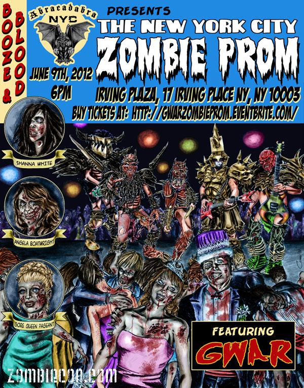 NYC Zombie Prom with GWAR flyer